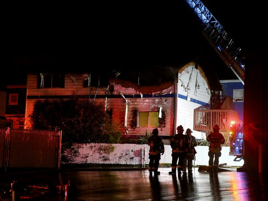Early Thursday morning fire at the Blue Water Inn in