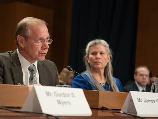 Wisconsin Farm Bureau President Jim Holte testifies