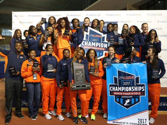 UTEP women's track team won their third straight title