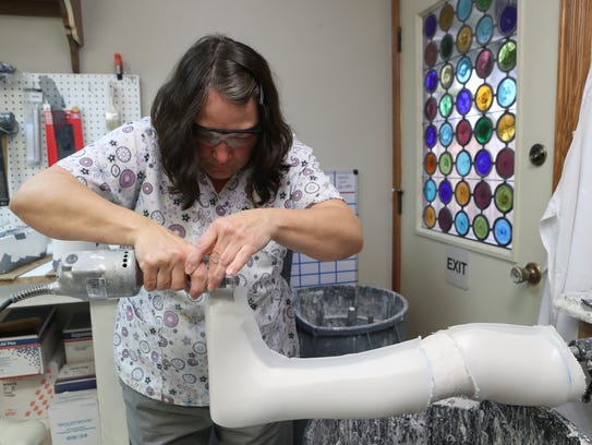 Michele Driggett, an orthotic technician with Spectrum