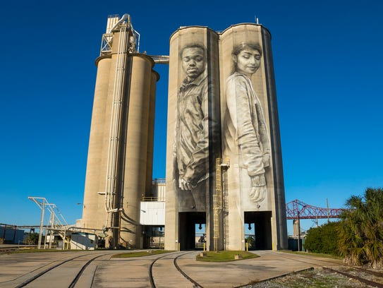 A mural painted by Guido van Helten in Jacksonville,