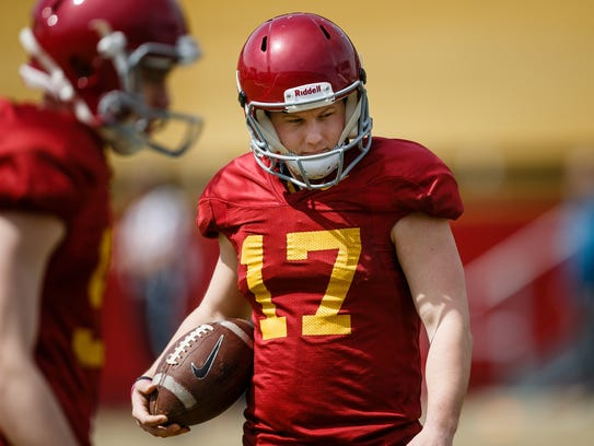 Iowa State redshirt senior place kicker Garrett Owens