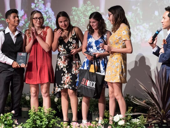 Redwood High School students receive the Best of Tulare