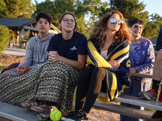 From left, Drew, 14, Aly, 21, and Lexi Markovich, 17,