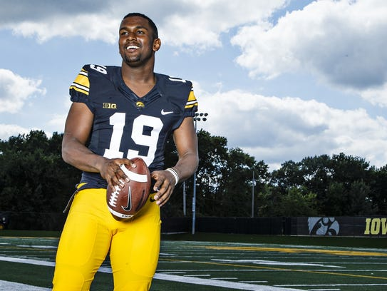 Miles Taylor is the lone senior in Iowa's secondary,