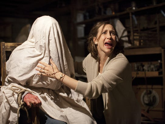 Vera Farmiga in a scene from the thriller 'The Conjuring.'