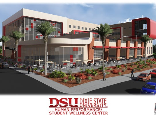 A rendering of a possible concept for Dixie State University's