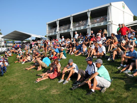 Spectators have a look at the final round of the 2017 Dick's Sporting Goods Open.
