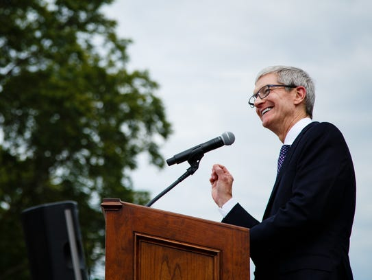 Apple CEO Tim Cook announces the companies plans for