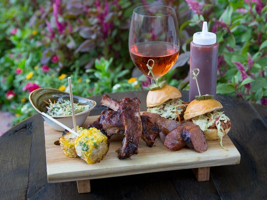The BBQ Board for Two combo at Lon's Last Drop.