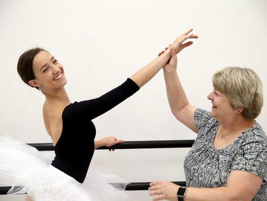 Irene Miller of Irene's School of Dance (right) has