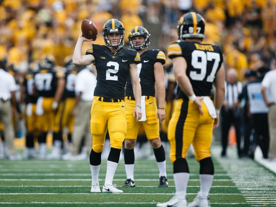 Ryan Gersonde (2) attempted 13 punts as a true freshman and showed he could have a potent left leg.