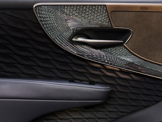 This is the door panel of the 2018 Lexus LS500h.