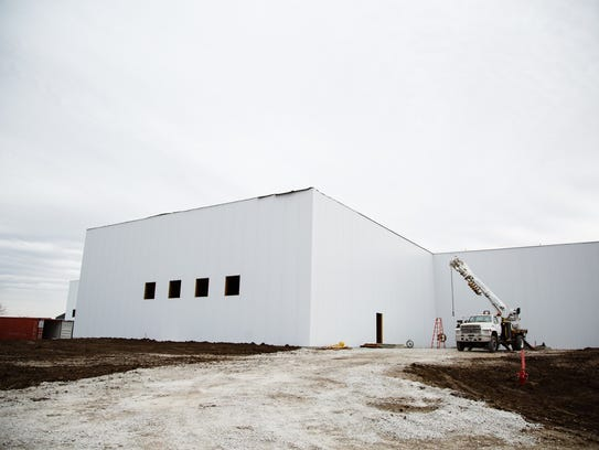 The Hy-Vee distribution center's new addition on Wednesday,