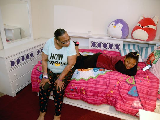Renee Thomas' granddaughter Da-Mira has her own room