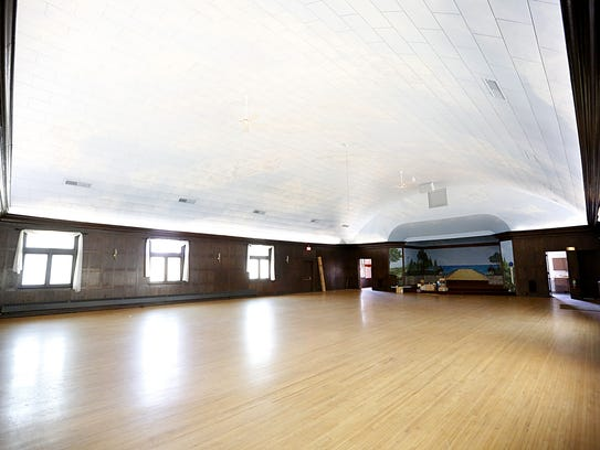 The upper level of the former Elks Lodge has a large