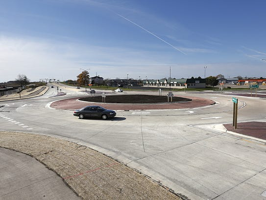 The roundabout at Pioneer Road  and Military Road opened
