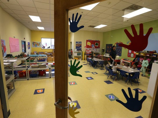 One of the rooms at the new childcare facility of the