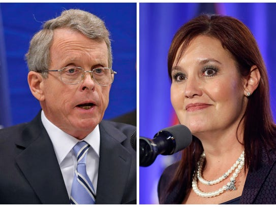 This combination of file photos shows Republican candidates