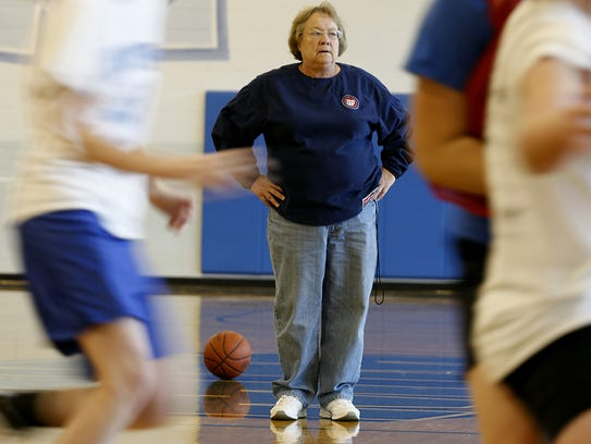 Mary Jo Huismann, basketball head coach of Mother of