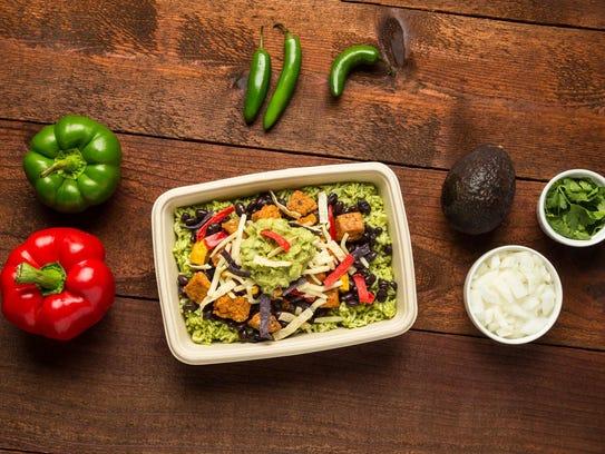 Tempeh Calabacitas Bowl from Freebirds World Burrito,