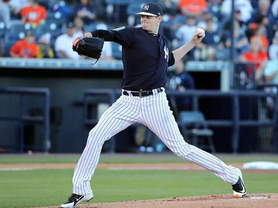 New York Yankees starting pitcher Jordan Montgomery