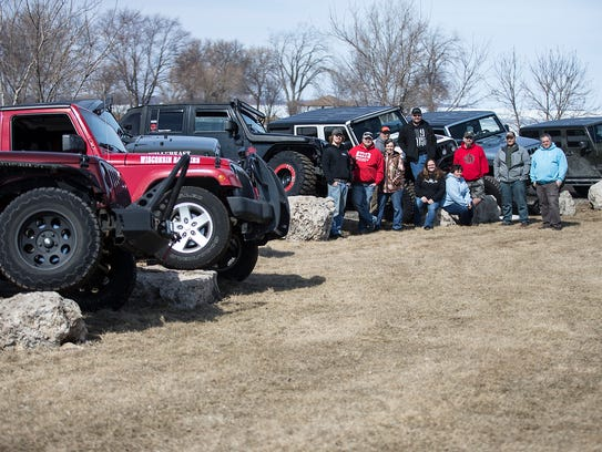 A group of Jeep enthusiasts that call themselves Wisconsin