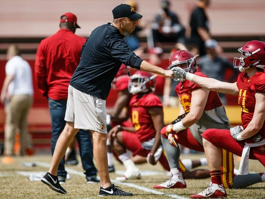 Iowa State tight end Chase Allen has bulked up since