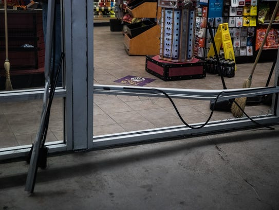 Despite damage to the store, the Turkey Hill has remained