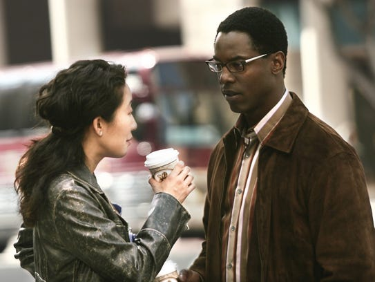 "Sandra Oh and Isaiah Washington star in ""Grey's Anatomy."""