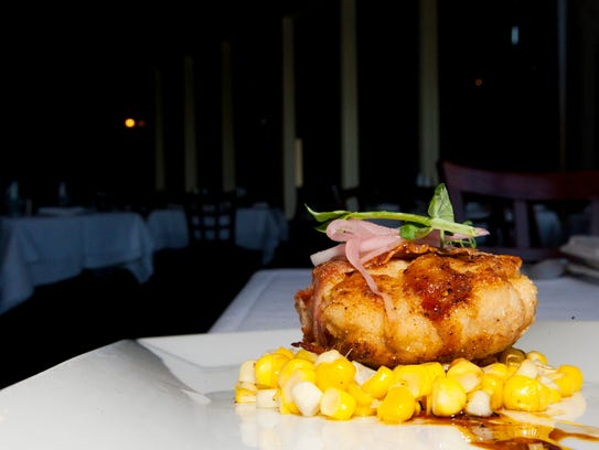 Crispy veal sweetbreads with sautéed corn, country ham and a molasses ...