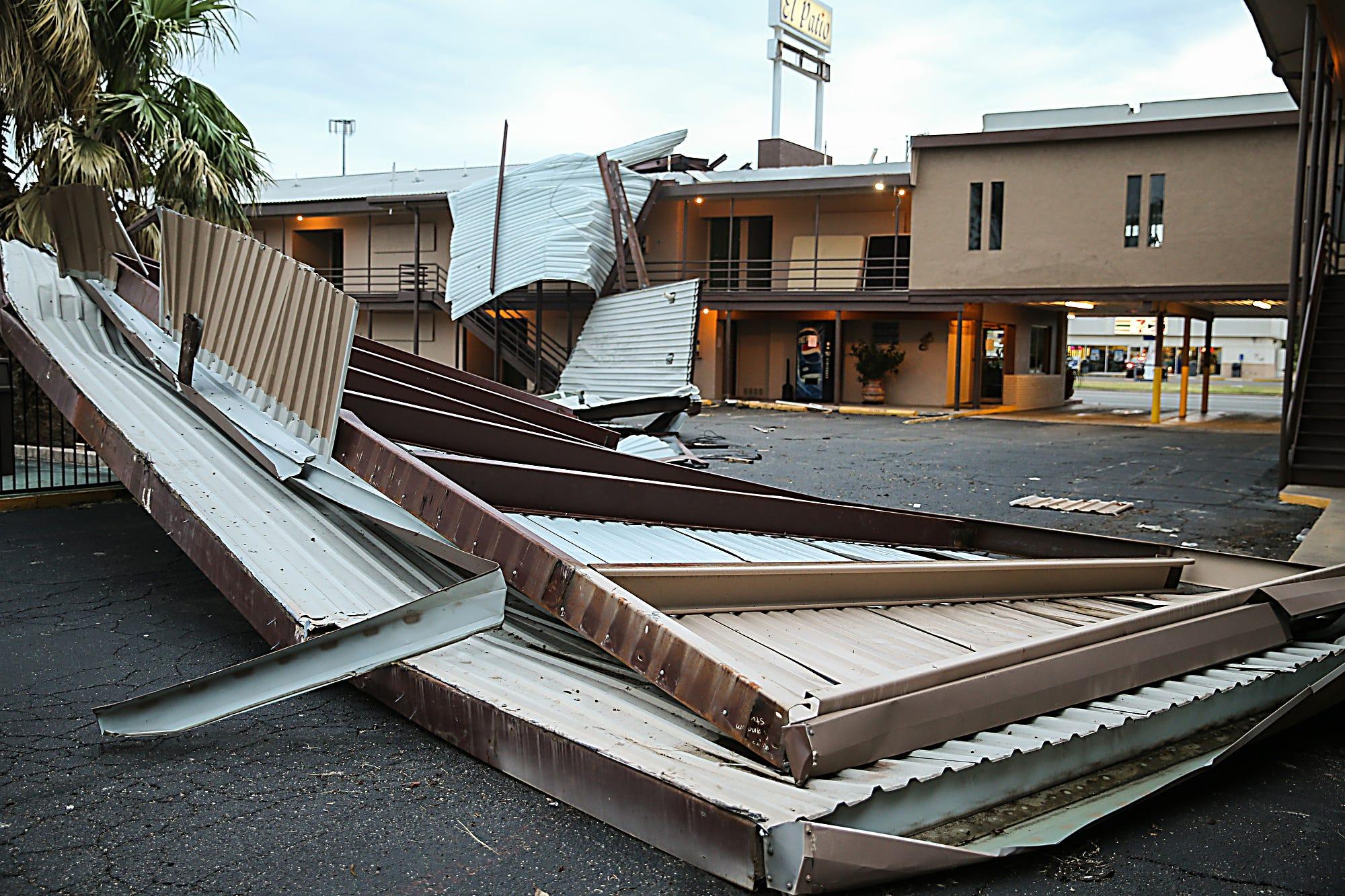 Parts Of The Roof Of El Patio Inn On W. Beauregard