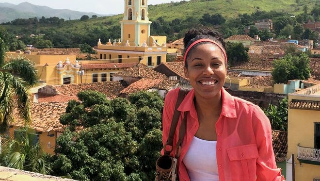Millsaps College senior Ericka M. Wheeler, pictured here during a study abroad opportunity in Trinidad, Cuba, in 2014, will soon be studying abroad again as a Rhodes Scholar.