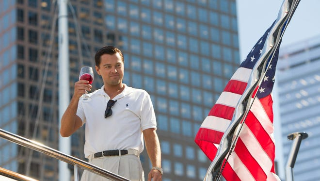 Leonardo DiCaprio as Jordan Belfort in a scene from 'The Wolf of Wall Street.'