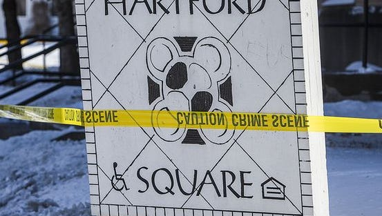 Hartford Square Apartments was the scene of Thursday's deadly shooting.