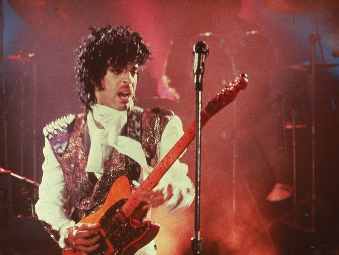 """Prince performs in his debut movie """"Purple Rain,"""" the"""