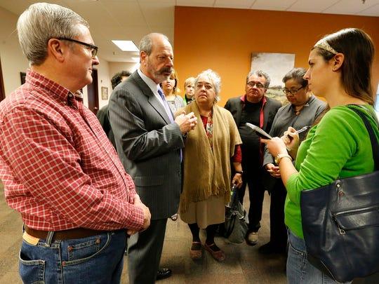 Then-Mayor Oscar Leeser gives details Dec. 16, 2016,