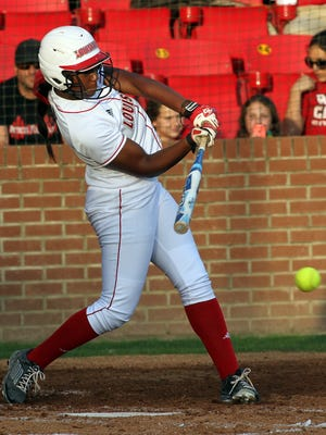 UL's Aleah Craighton, shown here during a 2015 game against Georgia Southern, had a grand slam and a two-run triple in last Saturday's Sun Belt tourney title game win over Texas State.