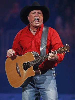 Garth Brooks performs during his world tour on Oct. 16, 2015 at Talking Stick Resort Arena in Phoenix, Ariz.