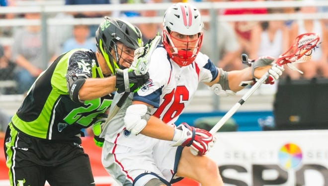 Bloomfield Hills native Sergio Perkovic (16) netted four goals in his rookie season as a pro lacrosse player with the Boston Cannons.
