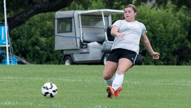 CONTRIBUTED PHOTO Maryssa Garza, a Gregory-Portland grad, has found a key role with Our Lady of the Lake University's women's soccer team as a section.