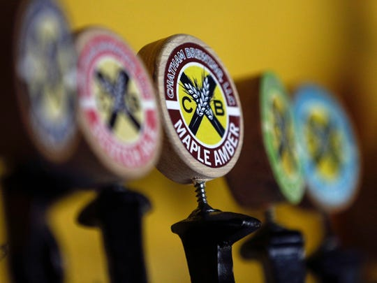 A maple amber beer is among the offerings at Chatham Brewing in Chatham, N.Y.