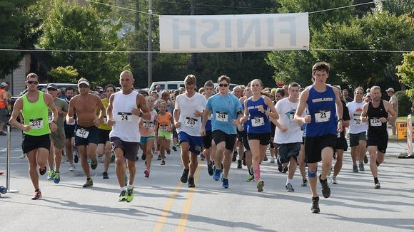 Hundreds of runners took part in the Highlands Twilight Rock 'n Roll 5K last year.