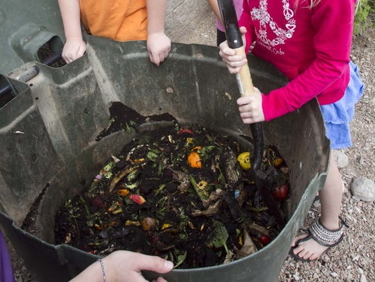 Composting, donating extra food and rallying to change