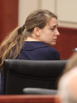 Shayna Hubers waits for a jury's recommendation for her sentence. She was found guilty of murdering her boyfriend, Ryan Poston.