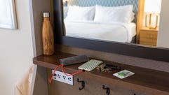 """Holiday Inn's new guestrooms have """"Welcome Nooks"""" that"""