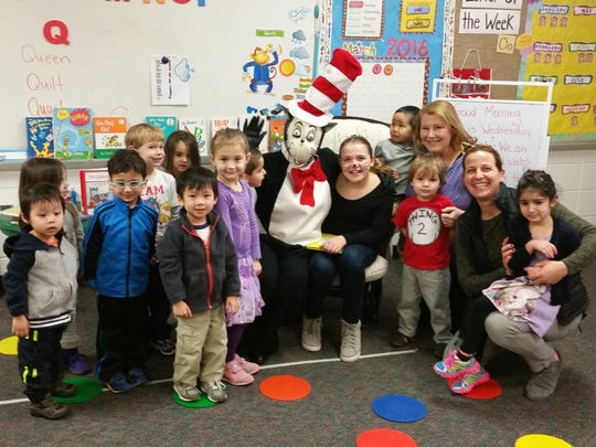 """The Bayberry pre-school in Watchung celebrates Dr. Seuss Day (Read Across America) on Wednesday, March 2nd with a special guest, the Cat in the Hat!"""