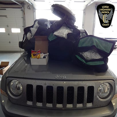 More than 40 pounds of marijuana and other drugs were