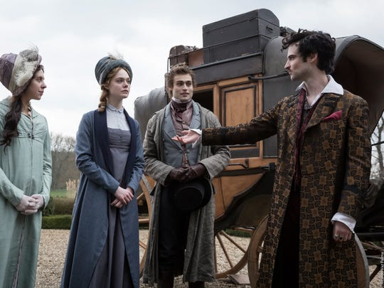 """Bel Powley (from left), Elle Fanning, Douglas Booth and Tom Sturridge star in """"Mary Shelley."""""""