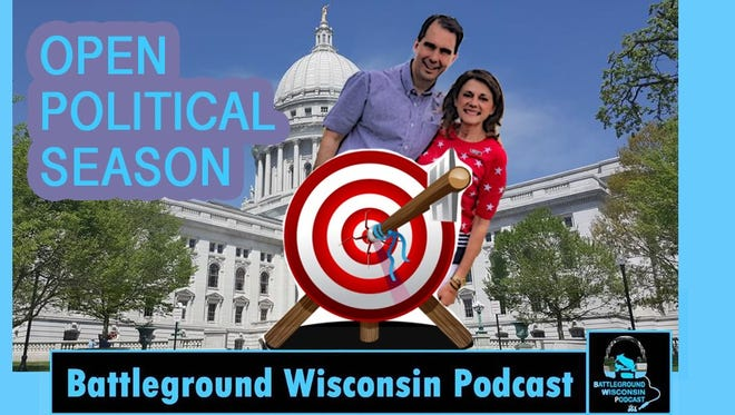 Republicans are criticizing liberal group Citizens Action Wisconsin for publishing a graphic on their website depicting a bullseye target on top of Gov. Scott Walker and Sen. Leah Vukmir, R-Brookfield.